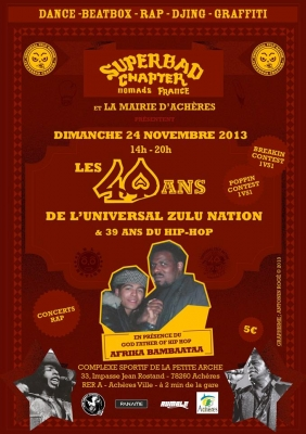 UNIVERSAL ZULU NATION 40th Anniversary Paris (Afrika Bambaataa)