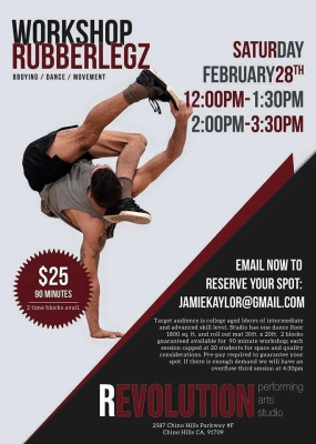 Rubberlegz Workshop at Revolution Performing Arts Studio