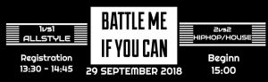 Battle Me if You can Hamburg Edition 2018