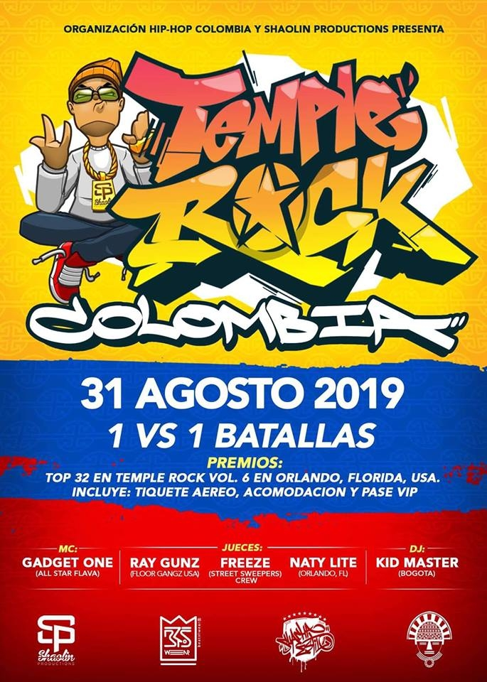 Temple rock calificatoria sur america 2019 poster