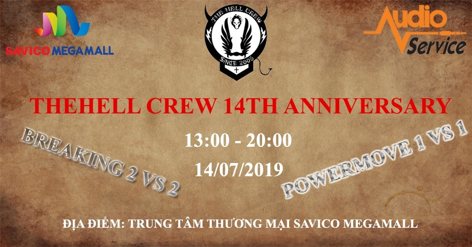 Thehell Crew 14th Anniversary 2019 poster