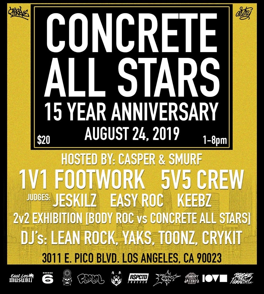 Concrete All Stars 15 Year Anniversary 2019 poster
