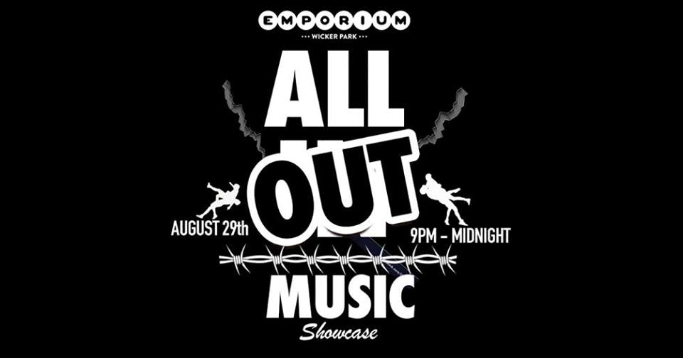 All Out Music Showcase 2019 poster