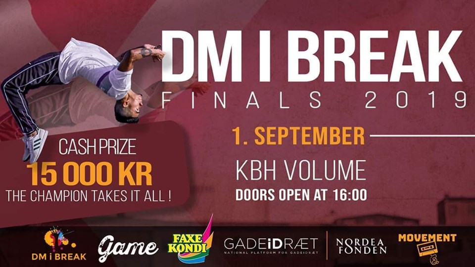 DM i Break Finals 2019 poster