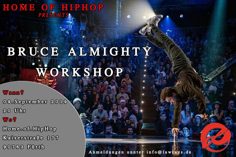 B-boy Bruce Almighty Workshop 2019 poster