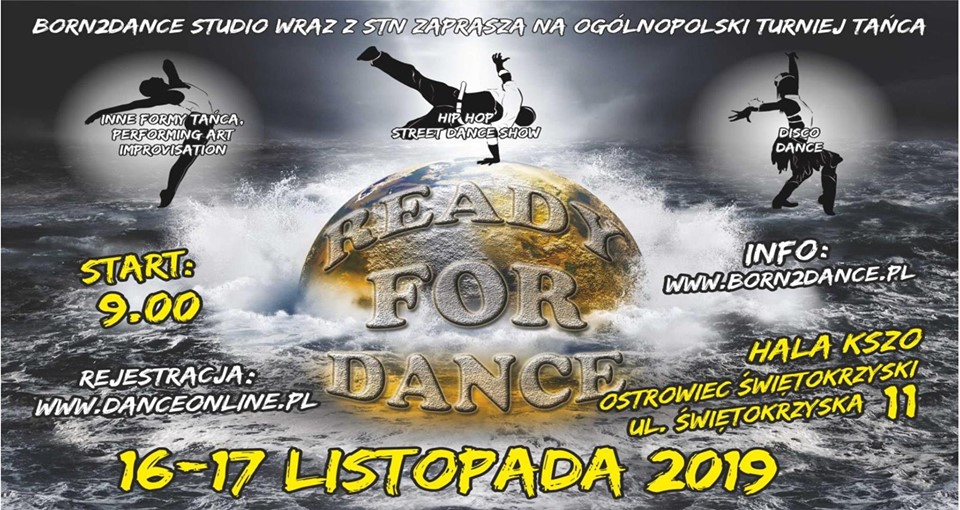 READY for DANCE 2019 poster