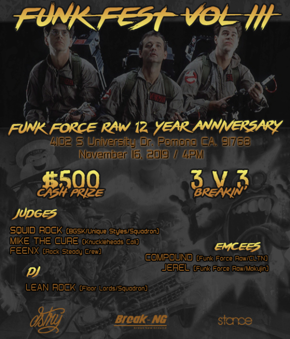 Funk Fest 3: Funk Force Raw 12 Year Anniversary 2019 poster