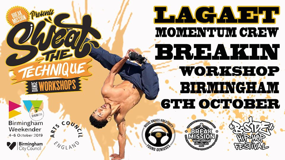 Sweat The Technique B-boy Lagaet Workshop 2019 poster