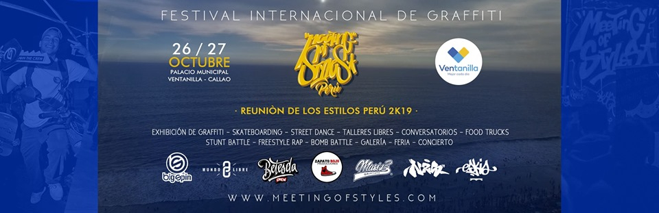 Meeting of Styles Int. Graffiti Festival 2019 poster