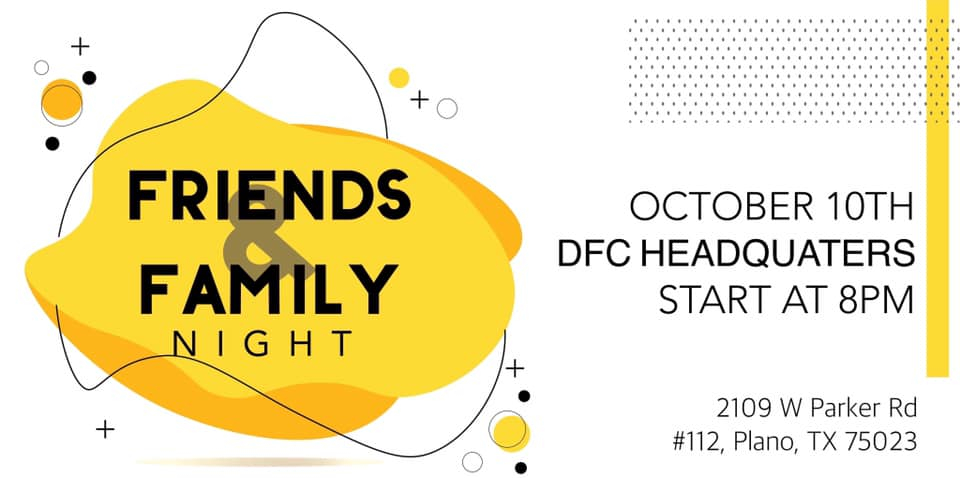 DFC Friends N Family Night 2019 poster