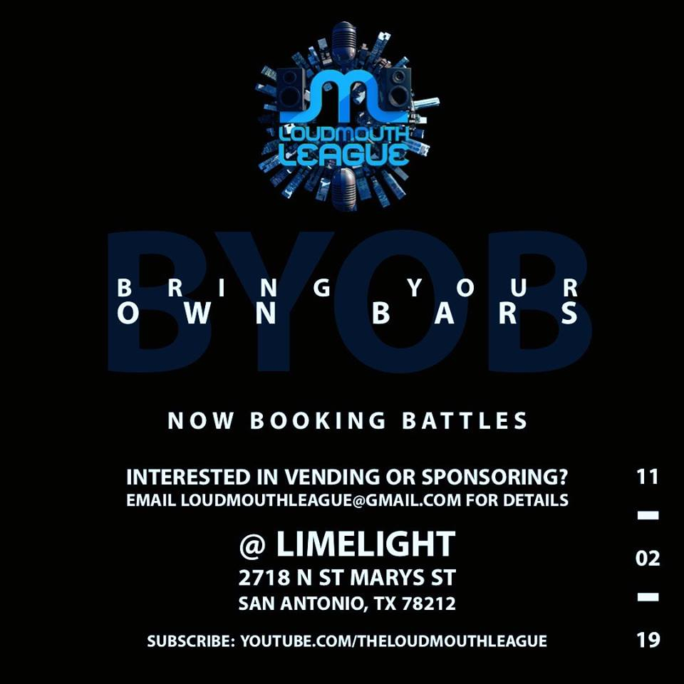 LML presents Bring Your Own Bars 2019 poster
