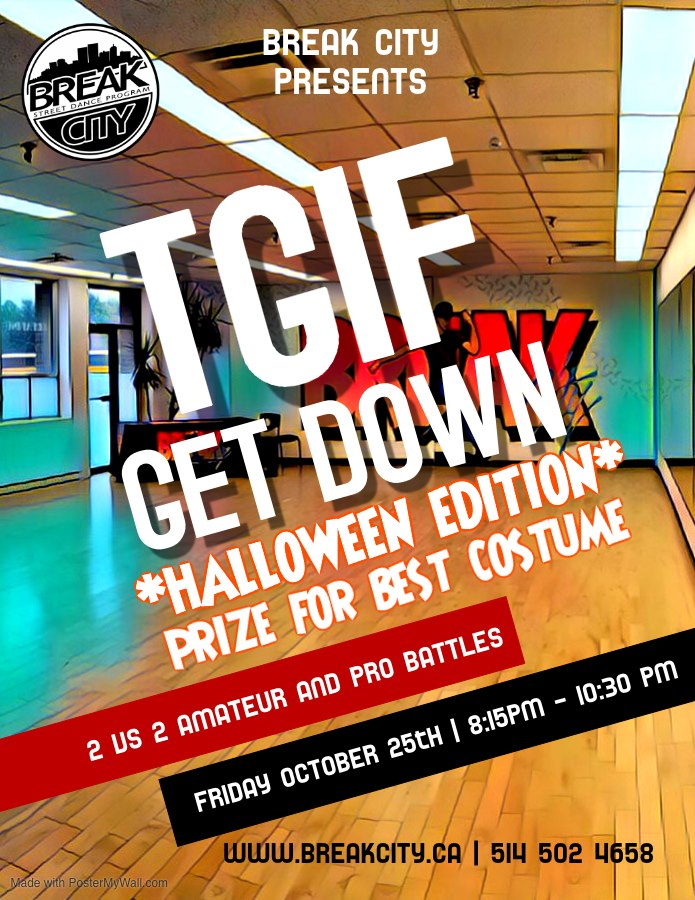 TGIF Get Down - Halloween Edition 2019 poster